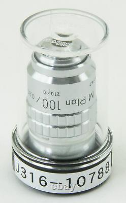 10788 Nikon 100x Microscope Objective Lens M Plan 100 / 0.80 Elwd 210/0
