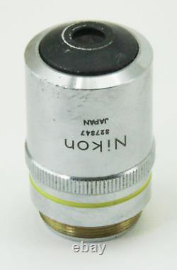 10820 Nikon 10x Microscope Objective Lens M Plan 10 / 0.25 210/0