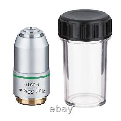 195 Biological Microscope Plan Objective Lens 4X -100X RMS Thread 160/0.17