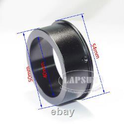 40X-400X-800X Parallel Light Microscope Camera Zoom C-Mount Lens + Aux Barlow US