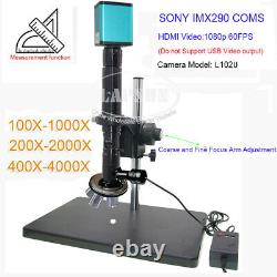 50X- 4000X Multi Objective Coaxial Light Lens Industry Camera IMX290 Microscope