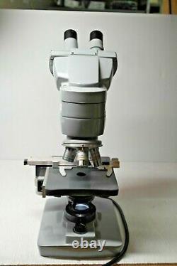 American Optical Binocular Microscope with Acromat Objective Lenses & Eyepieces