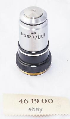 Carl Zeiss 461900 Microscope Objective Lens 100/1.25 160/- Oil NEW