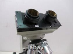 Fisher Scientific Micromaster Model E Binocular Microscope & 4 Objective Lenses