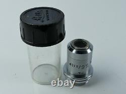 LEITZ LEICA 215/- 5.6x 0.15 5.6X/0.15 MICROSCOPE OBJECTIVE LENS CASED