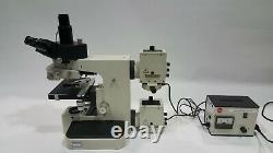 LEITZ WETZLAR ORTHOPLAN MICROSCOPE 100x. 50x. 40x. 10x. 4x OBJECTIVE LENSES