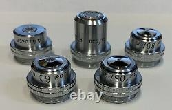 LOT OF UNCOMMON Leitz Petrographic Polarizing / POL Microscope Objective Lenses