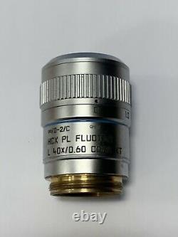 Leica HCX PL FLUOTAR 40x 0.6 NA CORR XT Microscope Objective Lens