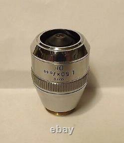 Leitz DF 50X L Microscope Objective Lens Dark Field LWD Infinity 569198