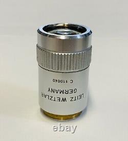 Leitz Germany PL Plan 1.6X/0.08 Macro Microscope Objective Lens 160mm