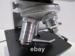Leitz Wetzlar HM-LUX Binocular Microscope with 4 Objective Lenses German Quality