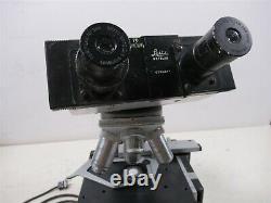Leitz Wetzlar HM-LUX Binocular Microscope with Objective Lenses & Eyepieces