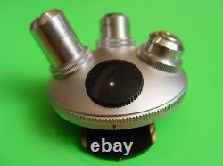 Leitz Wetzlar Microscope 4 Objective Nosepiece Lenses