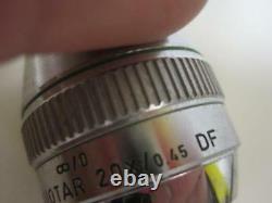 Leitz Wetzlar NPL Fluotar 20x/. 045 DF Infinity Microscope Objective Lens 569234