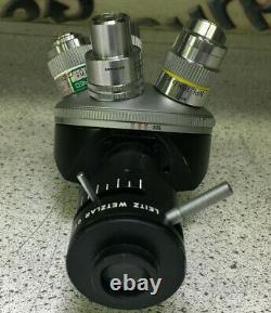 Leitz Wetzlar Revolving Nose Piece Tourette with Objective Lenses See Full Desc