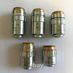Long Working Distance Plan Achromatic Metallurgical Microscope Objective Lens