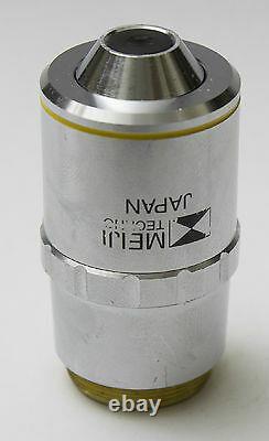 Meiji S APO F 10x 0.40 /0.17 f=200 Microscope Objective Lens Plan Planapo RMS