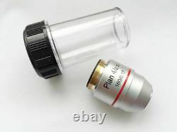 Microscope Objective Lens PLAN DIN 4X 10X 20X 40X 60X 100X RMS Thread CNSCOPE