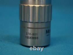 Mitutoyo 378-801 M Plan Apo 2x/0.055 Microscope Objective Lens
