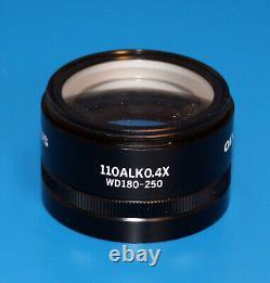NEW OLYMPUS 110ALK0.4X WD180-250 Microscope Lens Auxiliary objective SZ61/SZ51