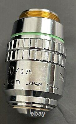 NIKON PlanApo CFN 20X 0.75 160MM OBJECTIVE MICROSCOPE LENS MINT CONDITION