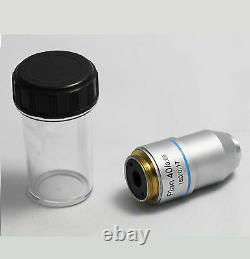 New DIN Plan Achromatic Microscope Objective Lens Sets 4X 10X 40X 100X