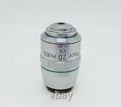 Nikon Fluor 20X/0.75 DL / Ph3 Phase Contrast Microscope Objective Lens 160mm