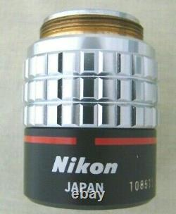 Nikon Japan Plan 4x/0.13 160/- Microscope Objective Lens Brand New