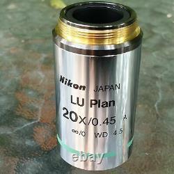 Nikon LU Plan 20x/0.45 A /0 EPI, WD 4.5 Microscope Objective Lens