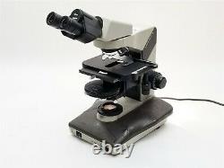Nikon Labophot-2 Binocular Microscope with 10/0.25 40/0.65 4/0.1 Objective Lens