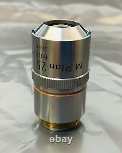 Nikon M Plan 2.5X/0.075 Microscope Objective Lens 210mm