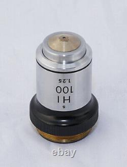 Nikon Microscope Objective Lens PAIR HI-100/1.25 + HI-M-100/1.25