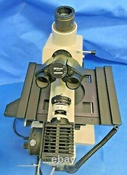 Nikon Optiphot Microscope Trinocular X-Y Stage Reflected Light Objective Lenses