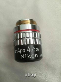 Nikon PlanApo 4/0.20 160/- 4X Lens Objective Wafer KLA UV Microscope Macro Photo