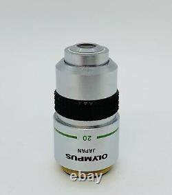 Olympus A 20X/0.40 Microscope Objective Lens 160mm BH Series BH2 CH2 (UNUSED)
