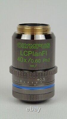Olympus LCPlanFl 40x/0.60 Ph2 infinity/ Microscope Objective Lens