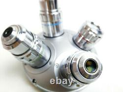 Olympus Microscope MS plan 5 10 20 50 objective lens set withpol Nosepiece Turret