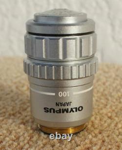 Olympus Microscope Objective Lens Dplan Apo 100 UV Oil Limited Japan LTE638
