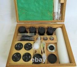 Olympus Microscope Objective Set (100, 40, 20, 10) & 4 Lenses 3 Bulbs CASE Full
