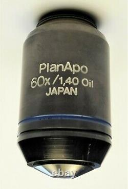 Olympus Microscope PlanApo 60x/1.40 Oil Immersion Objective, Excellent Lens