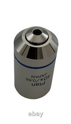 Olympus Plan 40x NA 0.65 Microscope Objective Lens for BX CX IX