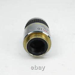 Olympus Splan 10 0.30 160/0.17 Microscope Objective Lens 10x