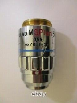 Olympus ULWD MSPlan 50x 0.55 infinity /0 f=180 Microscope Objective Lens splan