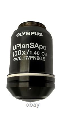 Olympus UplanSApo 100x / 1.40 oil UIS2 Microscope Objective Lens for BX CX IX