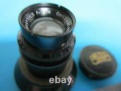 RARE MICROSCOPE OBJECTIVE LENS CARL ZEISS JENA GERMANY PLANAR 4.5X 5 cm OPTICS