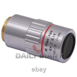 Used & Tested MITUTOYO M Plan Apo 5x/0.14 Microscope Objective Lens