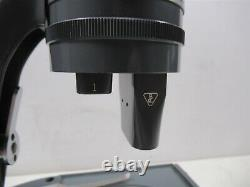 Vintage Bausch & Lomb Stereo Zoom Lab Microscope with 2 Objective Lenses Tilt Base