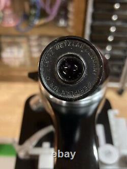 Vintage Leitz Wetzlar Microscope with Four Objective Lenses