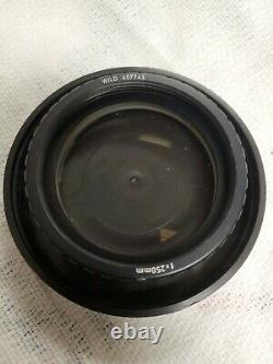 WILD HEERBRUGG 407743 f=250mm Objective Lens with Protective Case microscope