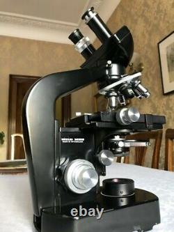 Wild Heerbrugg M20 Microscope with Phase Contrast, 6 Objective Lenses & 6V PSU